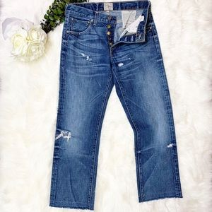 PRPS Jeans Button Fly Distressed Denim